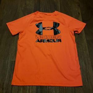 Under Armour Neon Orange Activewear Top